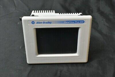 Allen Bradley 2711p-t6c20d Ser D Panelview Plus 600 Touch 5.5 Color Dc Works