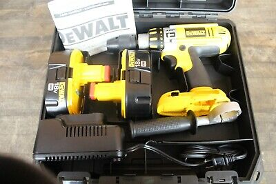 New Dewalt Dc925 Xrp 12 Cordless Drilldriver Hammer Drill W 2 Batteries