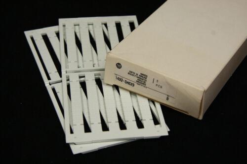 Allen Bradley 1492-SM6X9 Snap In Marker Cards for 1492 Terminal Blocks 2 Sheets