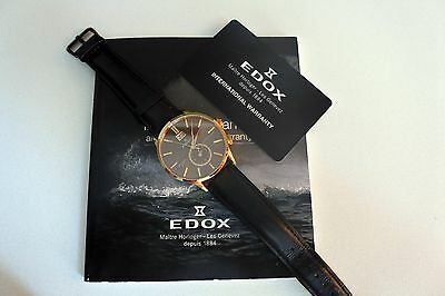 EDOX Les Vauberts 62003, Big Date, GMT, Men's Watch
