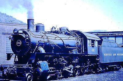 2 Vtg. Slides of Steam/ Electric Locomotives on the Norfolk&Western, Virgiian #8