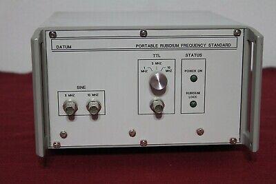 Symmetricom Datum Portable Rubidium Frequency Standard 5mhz10mhz Modl Prfs