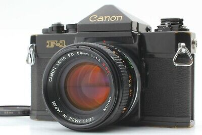 [Exc+4] Canon F-1 35mm SLR Film Camera + FD 50mm F/1.4 S.S.C Lens From JAPAN 172