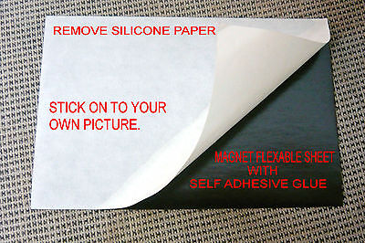 81 Flexible Magnet Sheetself Adhesive One Side Silicone Paper.10x15 Cm 4x6