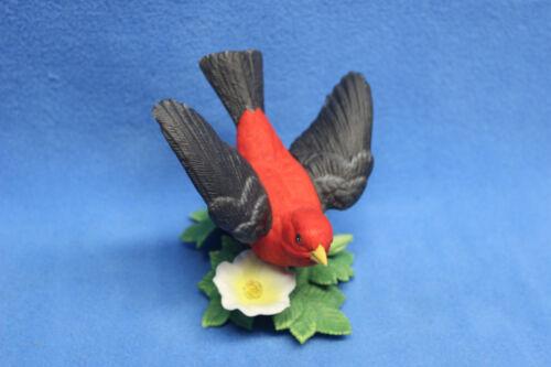 Lenox Fine Porcelain Scarlet Tanager Garden Bird Collection Figurine 1992