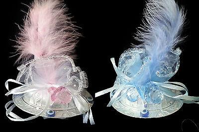 25xGastgeschenke BABY Taufe Geburt Bebek Sekeri Mevlüt Baby Shower Blau und Rosa