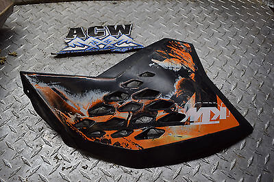 Y2-2 LEFT SIDE GAS TANK COVER PANEL 08 KTM 250 SXF DIRT BIKE 2008 FREE SHIP