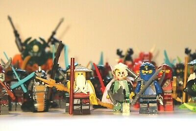 Ninja mini figures Kai Zane Bundle master Wu ninja weapons fits lego Ninjago