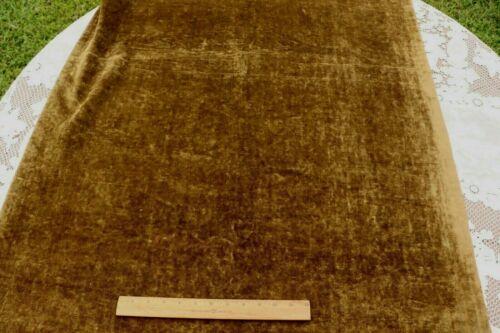 """Antique French Or Italian 18thC Silk Woven Velvet-Olive/Khaki~L-88"""" X W-33"""""""