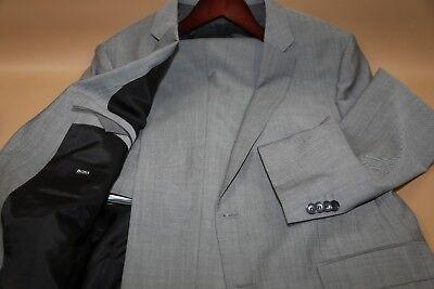 #154 HUGO BOSS Huge4/Genius3 Light Gray Suit Size 44 R   SLIM FIT , used for sale  USA