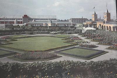 12 kolorierte Glaspositive um 1920 - Gartenanlagen und anderes - s.Galeriebilder