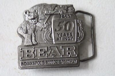 1980 50th Years At Indie Bear Indianapolis Motor Speedway Belt Buckle