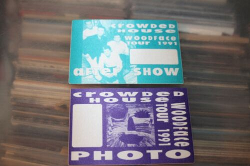 Crowded House  - 2x unused Backstage Pass -  FREE POSTAGE - Lot#02