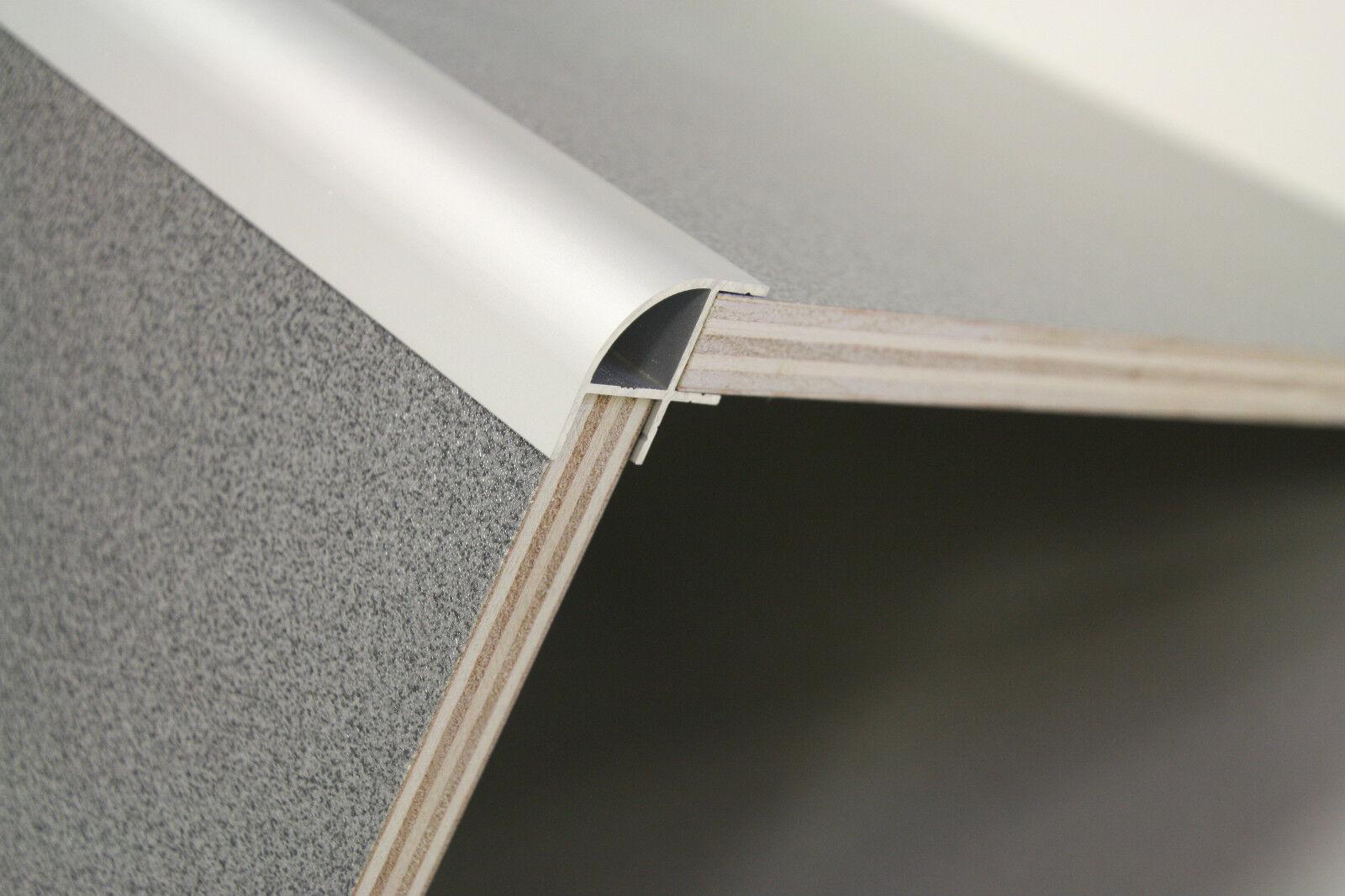 500mm aluminium corner profile small radius 20mm for 15mm campervan plywood ebay. Black Bedroom Furniture Sets. Home Design Ideas