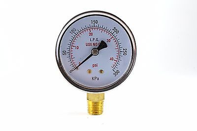 Low Pressure Gauge For Propane Regulator 0-40 Psi - 2.5 Inches
