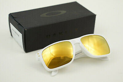 Oakley HOLBROOK Polished White/24K Gold Iridium OO9244-14 56-17 138 w/Box
