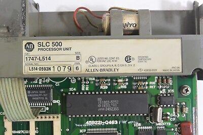 Allen Bradley 1747-l514 Slc 500 Processor Unit Ser B - Chip - Used