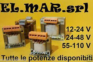 Trasformatore-Monofase-Uscita-12-24-48-55-110-V-ingresso-230-400-V