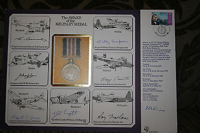 RAF Multi Signed First Day Cover Military Medal DSO DFC DFM