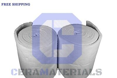 Ceramic Fiber Blanket 2300f 8 High Temp Thermal Insulation 12x24x50