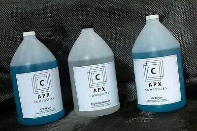Apx Uv Resin 3 Gallon 384 Oz Slow Hardener Carbon Fiber Epoxy Resin