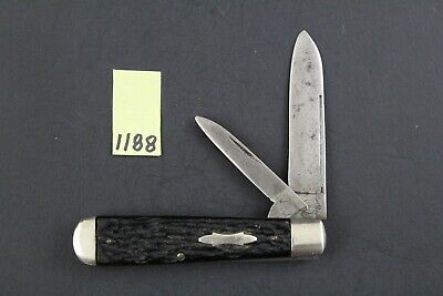 Remington R2203 Vintage Black Handle Jack Pocket Knife 1188