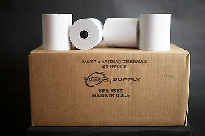 50 pcs Rolls POS Receipt thermal Paper printer star epson IBM 3 1/8