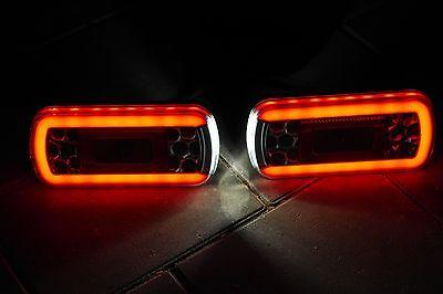 LED-Rückleuchten mit 5m 13-pol. Kabelbaum - Wasserdichtes Rücklicht f. Anhänger
