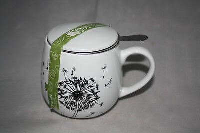 Teetasse mit Sieb Deckel Music Dandelion Könitz 400ml Kuschelbecher Pusteblume