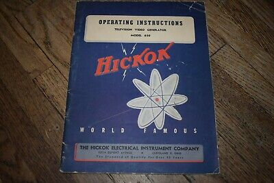 Vintage Original Hickok Model 650 Television Video Generator Manual