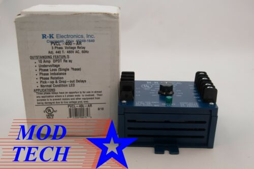 RK Electronics PVCL-400-AR Voltage Relay New