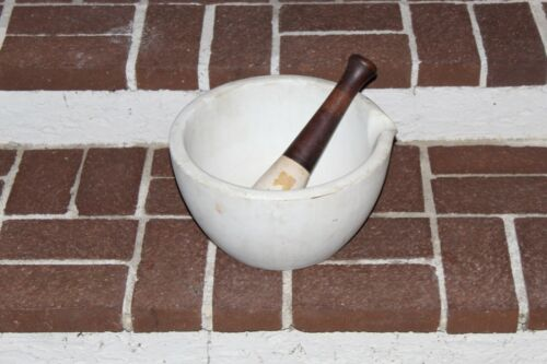 "12.25"" Extra Large antique mortar and Pestle Thomas Maddock & Sons Apothecary"