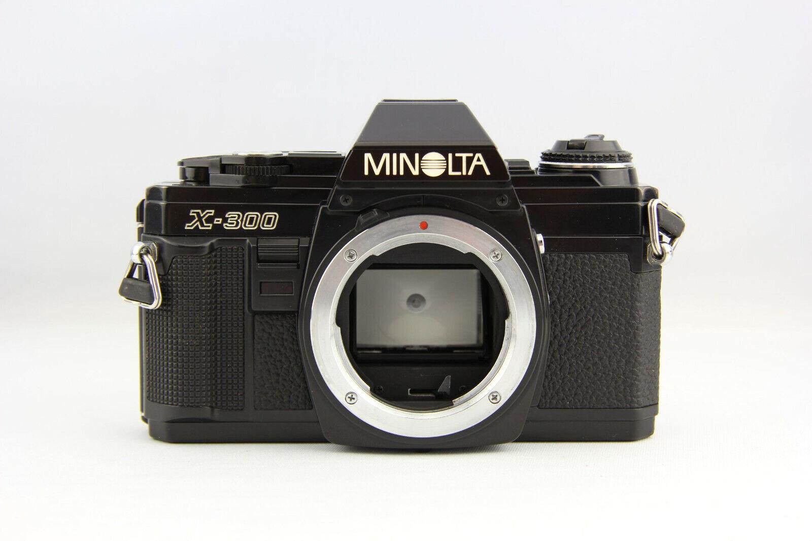 Minolta X-300 analoge Spiegelreflexkamera schwarz # 7150