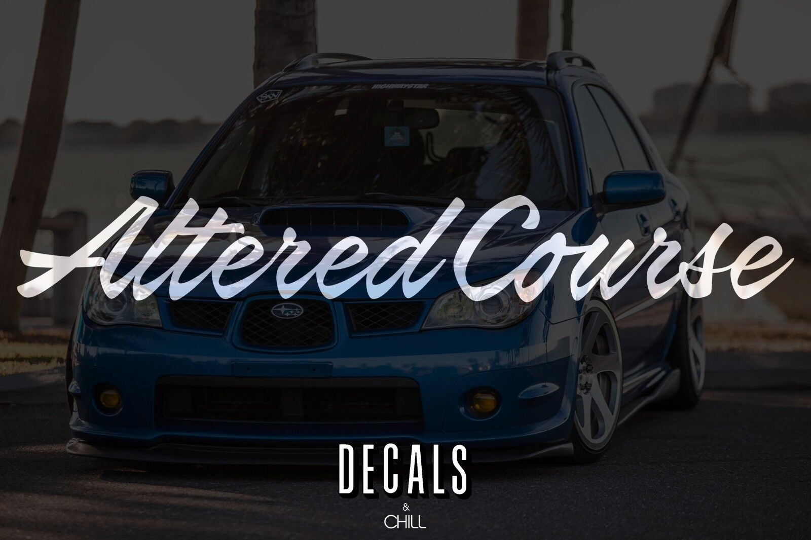Altered Course Decal Sticker - illest Lowered JDM Stance Low Slammed VW Honda