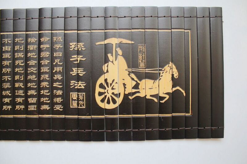 """Chinese Classical  Scroll Slips famous Book Of """"The Art Of War""""82X20CM孙子兵法"""