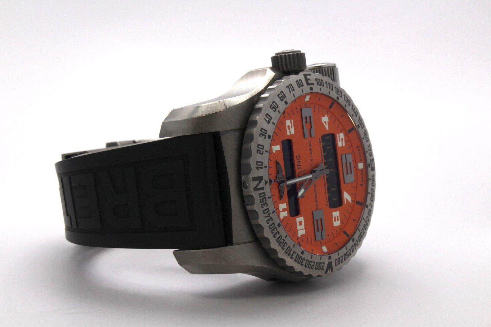 Breitling Emergency II Titanium Orange Dial E76325