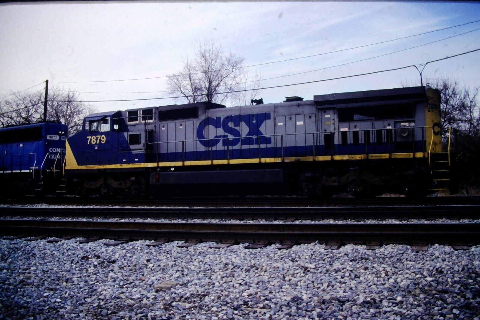 Original CSX Diesel Engine GE Dash 8 #7879 (2002) Kodachrome #CC569