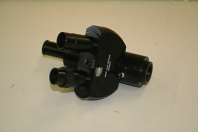 Leitz Wetzlar Trinocular Head Microscope Germany Mount Dovetail
