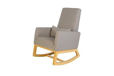 Nursery Rocker Gliding Chair in Timber & Dove Grey