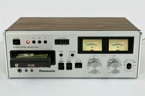 Panasonic RS-808 Vintage Stereo 8 Track Tape Deck. Japan. (REFURBISHED) Video