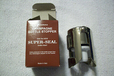 Champagne Bottle Stopper with Super-Seal, Made in Italy, Keep Champagne -