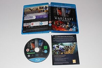 WARCRAFT THE BEGINNING Blu Ray + UV Code - Code Halloween Escape