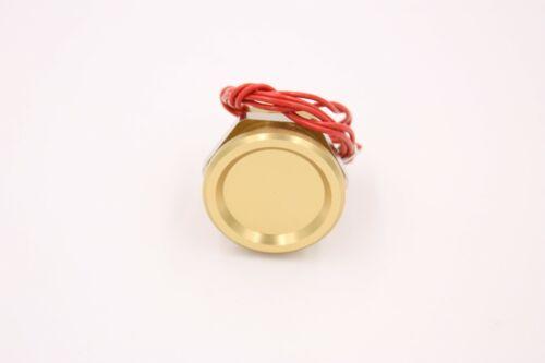"Touch Switch Gold/Orange Aluminum 0-24v, 7/8"" Hole, Piezo Tech, Military Spec"