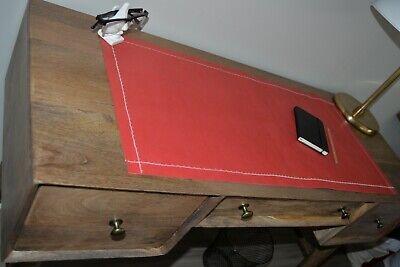 Leather Desk Pad - Unique Red Large Deskpad - Mouse Pad