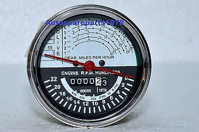 Oliver Tractor Tachometer Super 55 Up To Sn 46000 Gas Diesel White Face