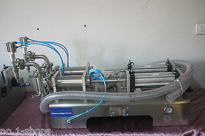 Two Heads Full Pneumatic Liquid Filling Machine 50-600ml For Water Juicefiller