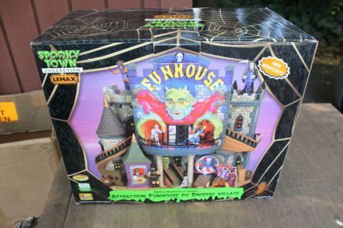 Spooky Town Lemax Funhouse Building Halloween Village Frankenstein w/Box