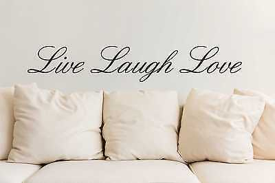 Live Laugh Love wall art sticker quote vinyl wall decor wall decal transfers