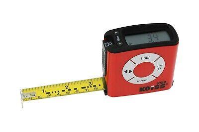 K Digital Tape Measure 16 Feet Inch Metric - Display Reads Tape Automatic