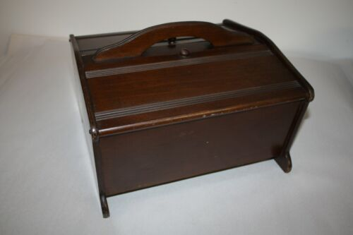 "Antique Vintage Wooden ""Butler #150 1356"" Sewing Box Cabinet"